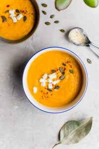 Butternut Squash, Carrot & Sweet Potato Soup
