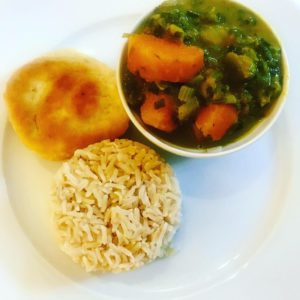 Sweet Potato, Calaloo and Pumpkin Curry Recipe